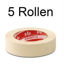 5 x KIP Malerkrepp Kreppband Malerbedarf Abklebeband Abdeckband 24 mm (50 m)