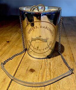 "Fabulous KATE SPADE NEW YORK Shiny Patent Silver Bucket BAG, ""Cheers Darling!"""