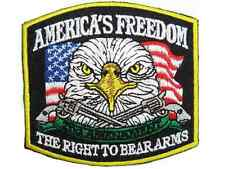 America's Freedom The Right To Bear Arms 2nd Amendment Embroidered Badge Patch