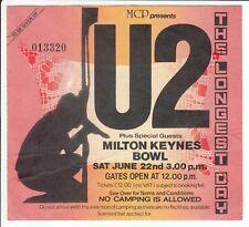 U2 concert ticket Milton Keynes Bowl The Longest Day 22 June 1985 #013320