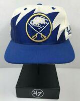 Vintage Buffalo Sabres Logo Athletic Sharktooth snapback hat cap NHL streetwear