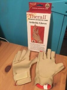 FLA ORTHOPEDICS THERALL PREMIUM ARTHRITIS CARE ARTHRITIS GLOVES 1 PR SIZE SMALL