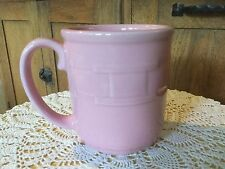 "Longaberger Woven Traditions Light Pink Coffee Mug. 4"" H x 3.5"" D."