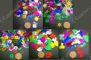 100 CHRISTMAS SEQUINS COLOURFUL SELECT DESIGN CARD MAKING SEWING SCRAPBOOKING