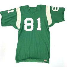 Vintage 1960s Football Jersey John Dunlap Sporting Goods OKC USA Green #81