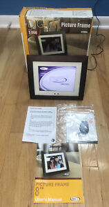 """Smartparts 8"""" Digital Picture Frame 3000 Pictures SPX8 No Remote Tested Working"""