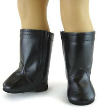 "Black High Riding Boots Shoes made for 18"" American Girl Doll Clothes"