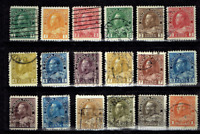1912-25 Canada (BNA) Geo V COMPLETE SET TO $1.00 Sc#104-22 Used Incl High values