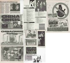 CHINA CRISIS : CUTTINGS COLLECTION - adverts