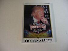 "2016 Decision Political Card - ""THE FINALISTS"" - DONALD TRUMP #81"