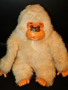 "Vintage Thumb Sucking Gorilla Monkey 8"" Plush Stuffed Animal Tan Furry No Tag"