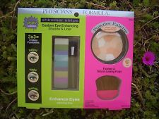 PHYSICIANS FORMULA MULTI-COLORED FACE POWDER LT-MED SKIN & SHIMMERY EYE SHADOW