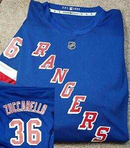 New! NHL NEW YORK RANGERS #36 ZUCCARELLO- Blue Poly, Boys Fan Jersey-Yth (L/XL)