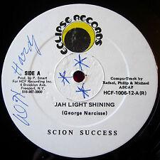 """Scion Success Jah Light Shining US 12""""Roots Eclipse b/w Manifest Top Form VINYL"""