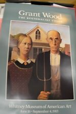 Grant Wood, Original Art Poster From Whitney Museum