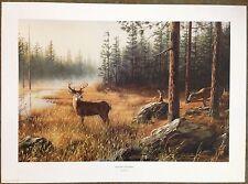 "Robert Hautman ""Northern Whitetails"" S/N Ltd Ed Print #448/700"