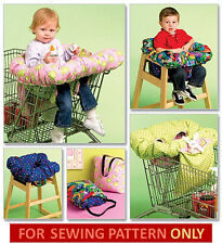 SEWING PATTERN! MAKE BABY GROCERY CART OR HIGHCHAIR COVER! FOLDS 2 TOTE TO CARRY