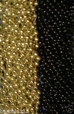 48 Black Gold Mardi Gras Beads Steelers Tailgate Football Superbowl Party Favors