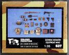 VERLINDEN 637 - GERMAN INFANTRY EQUIPMENT WWII - 1/35 RESIN KIT NUOVO