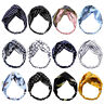CG_ KE_ KF_ Sweet Women Turban Twist Knotted Head Wrap Chiffon Elastic Headband