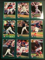 2001 Topps CLEVELAND INDIANS Complete Team Set 24 LOFTON, THOME, MANNY $$ HOT $$