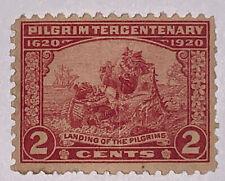 Travelstamps: 1920 US Scott #549 Pilgrim Tercentenary 2¢, Mint OH LH
