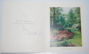 Royal Christmas Card Queen Elizabeth R Queen Mother The Garden at Royal Lodge
