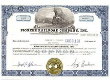 PIONEER Railroad Company 1989