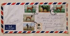 THAILAND cover airmail to Augsburg multiple frank dogs