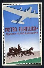 28816) ITALIA 1946 C.P. Mostra Filatelica Milano - 24.1.1946