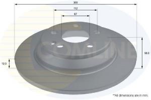 2x COMLINE Bremsscheibe ADC2805 für MERCEDES-BENZ