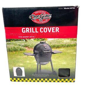 Char-Griller Akorn Bbq Grill Cover Custom Fit Moisture Resistant Black PVC Vinyl