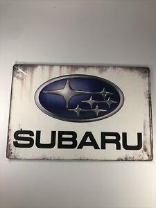 Subaru tin metal sign wall art posters and prints