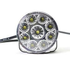 2X 9-LED DRL Car Round Driving Running Daytime Light Fog Lamp Head Light White
