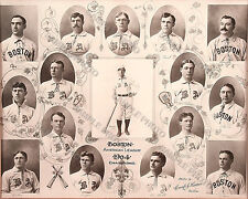 1904 BOSTON AMERICANS AMERICAN LEAGUE  CHAMPIONS 8X10 TEAM PHOTO CY YOUNG