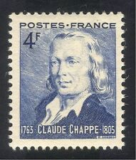 France 1944 Chappe/Semaphore Telegraph/Communications/People/Inventors 1v n33423