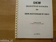 D0013 DKW---ERSATZTEILE-KATALOG 86---RT350S-MODEL 1958