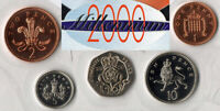 Coffret BU 2000 - 1, 2, 5, 10 et 20 Pence  - 5 monnaies Royaume-Uni - Neuf
