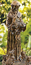 New Garden Statue Yard Sculpture St. Francis Outdoor Patio Lawn Decor Ornament