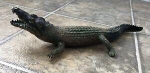 """Vintage AAA Crocodile Alligators Rubber 12"""" Figurine"""