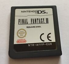 Final Fantasy III 3 Nintendo DS Loose Cartridge Only PAL Square Enix PAL