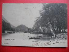 INTERLAKEN  :  Aux Bords de l'Aar.......VO.1904.