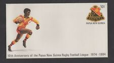 Papua New Guinea Pre Stamped Envelope 10th Anniversary of Rugby Football League