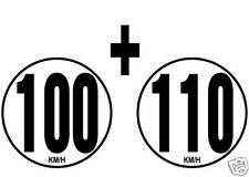 lot 2 Limitations de Vitesse Autocars Tracteur Poids lourd 100+110 KM/H adhésif