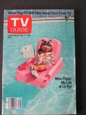 Aug 1-7 1981 TV Guide Miss Piggy My Life At Le Top Tampa FL Hollywood Wrap Party