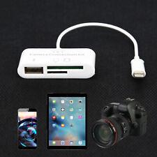 USB Lector de tarjetas Micro SD Cámara DSLR adaptador de enlace para Ipad/Iphone nos X 8 7 6 5