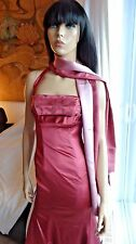 Glorious COAST EURO evening prom cocktail pink dress & scarf US2 XS $460