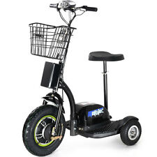 Electric Mobility 48v 500w Motor 3-Wheel MotoTec Scooter Key Seat Basket Light