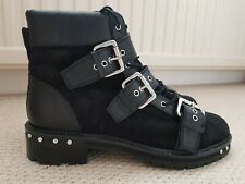 Topshop Animal Black Suede Stud Boots. Size 9. BNWT