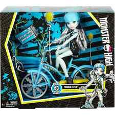 Monster High Boltin' Bicycle Frankie Stein Doll & Vehicle *****
